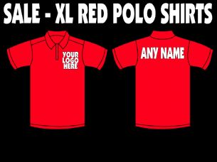 Design Your Own Red Polo Shirt - Size XL Only